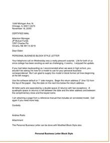 Business Letter Sle And Format Dandy Personal Business Letter Format Letter Format Writing