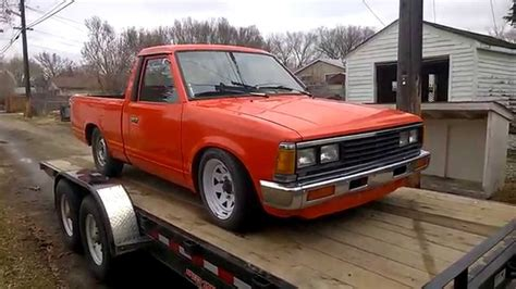 nissan datsun 1985 datrod part 1 1985 nissan 720 v8 youtube