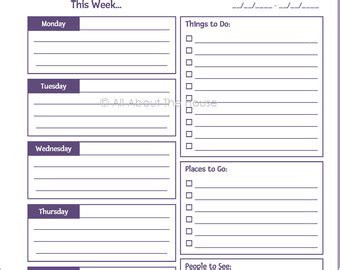 time management daily planner templates editable printable weekly planner time management