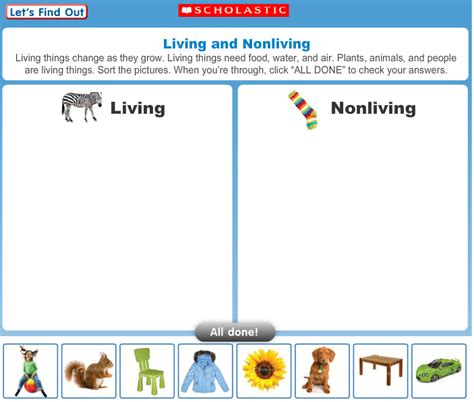 Living And Nonliving Worksheets by All Worksheets 187 Living And Nonliving Things Worksheets
