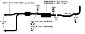1996 Gmc Exhaust System Diagram Gmc G2500 Savana Exhaust Diagram From Best Value Auto