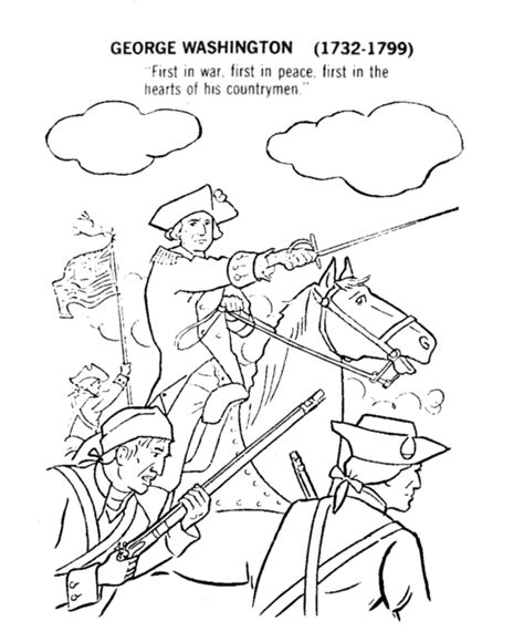 george washing coloring pages coloring pages