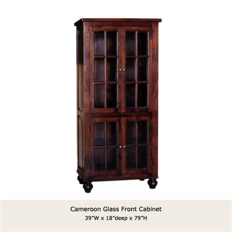 Glass Front Cabinet by Cameroon Glass Front Cabinet
