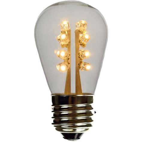 s14 warm white led plastic light bulb