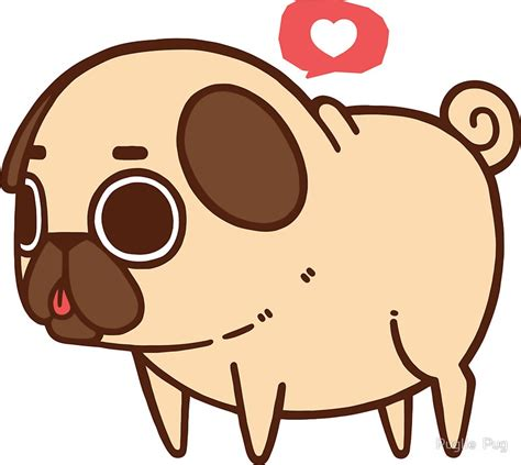 pug sticker quot puglie pug quot stickers by puglie pug redbubble