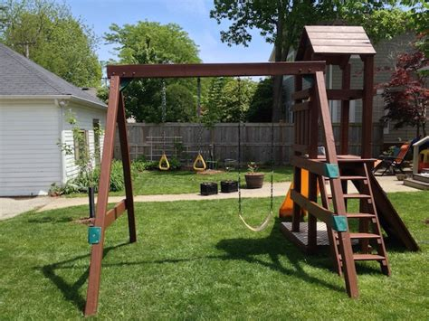 swing set stain how to refinish a playset frugal living