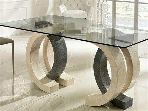 tavoli in pietra tavolo in pietra e vetro design md serie