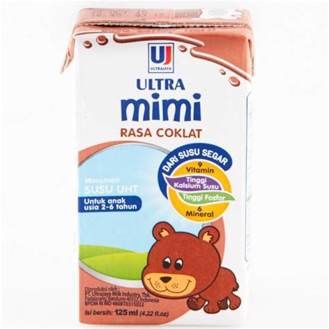 Ultra Milk Mimi Chocolate 125ml supplier mainan anak