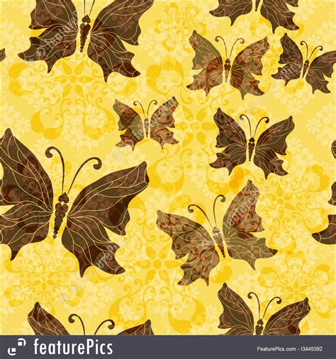 yellow pattern butterfly yellow brown butterfly pattern