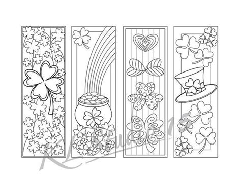 free printable irish bookmarks st patrick s day coloring bookmarks page instant