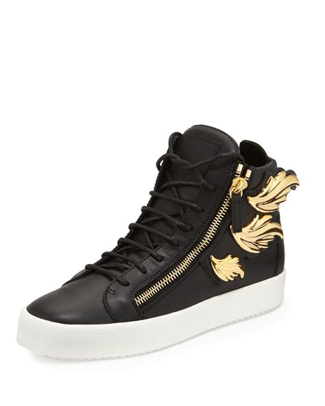high top sneakers mens giuseppe zanotti s leather high top sneaker with