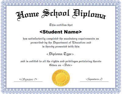 Homeschool High School Diploma Template Homeschool Diploma Template