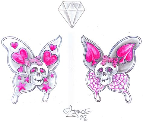 butterfly skull tattoos butterfly patterns tattoos