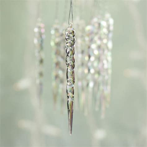iridescent icicle ornaments christmas ornaments
