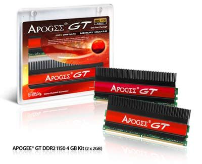 Ram Ddr2 Apogee walton chaintech announces apogee gt ddr2 1150 1200mhz 4gb memory kits legit reviews