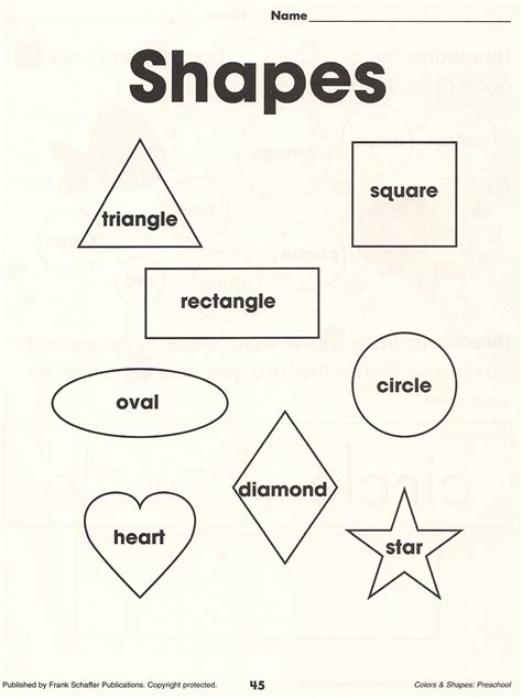 printable math shapes charts worksheets basic shapes worksheets opossumsoft