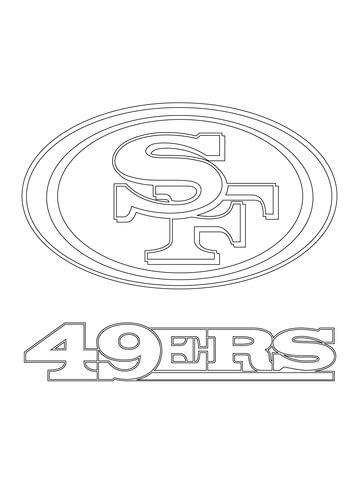 49ers Sketches by Ausmalbild Logo Der San Francisco 49ers Ausmalbilder