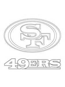 ausmalbild logo der san francisco 49ers