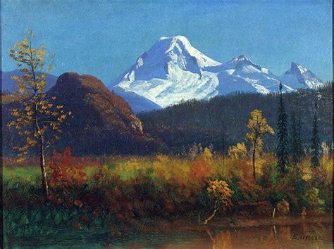 painting montana mt rainier from the southwest albert bierstadt