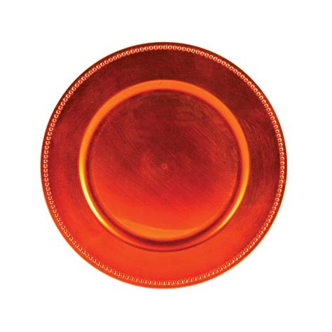 orange chargers plates beaded orange charger plates box of 24 lionsdeal