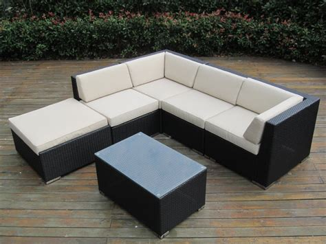 Outdoor Sofa Sectional Set Ohana Collection 6pc Sunbrella Outdoor Sectional Sofa Set