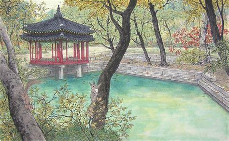 imagenes de paisajes coreanos pintura coreana cuaderno de retazos