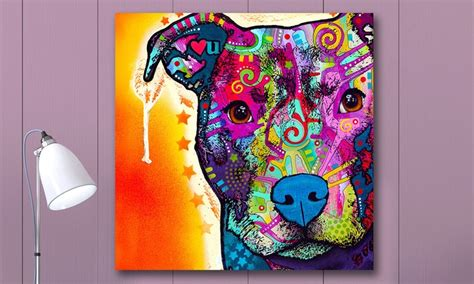 colorful dogs colorful dogs and cats on metal groupon goods