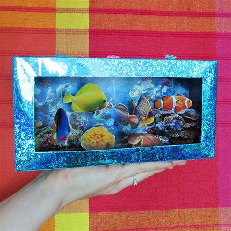 Tissue Paper Box Craft - tissue box aquarium