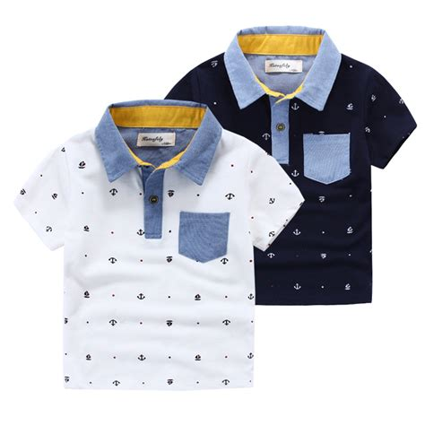 T Shirt Polo Boys 8 summer boys clothes polo shirts with collar cotton t shirt sleeve children s clothing