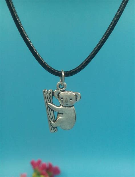 20x14 mm koala bears pendant necklace vintage ancient