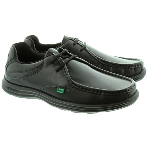 kickers reasan lace shoes in black in black