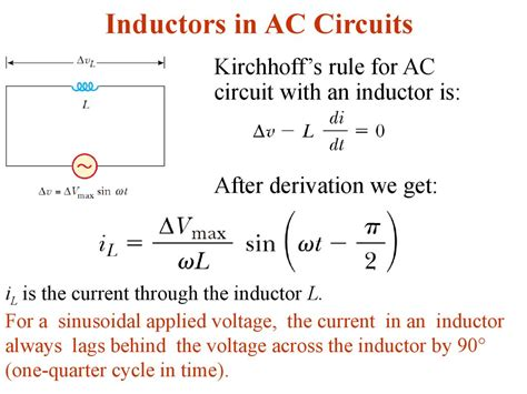 inductors in ac circuits alternating current lecture 3 презентация онлайн
