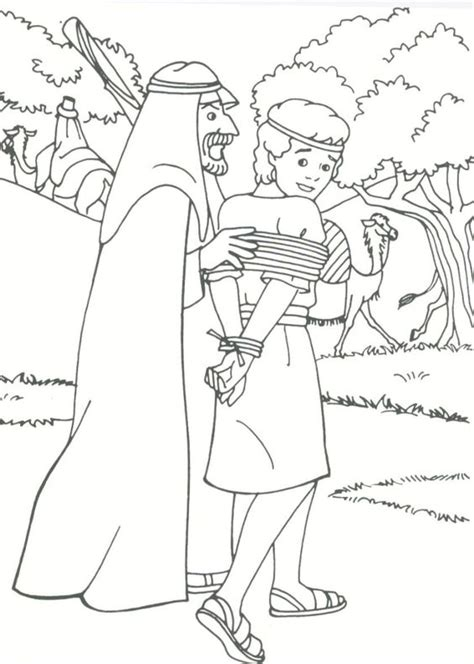 Joseph Sold Into Slavery Coloring Pages Coloring Home Picture Into Coloring Page