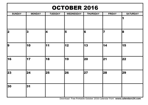 printable monthly calendar canada 2016 october 2016 calendar canada yearly calendar printable