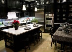 Kitchen Ideas With Black Cabinets by Pictures Of Kitchens Traditional Black Kitchen Cabinets
