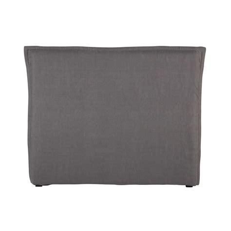 kopfteilbezug bett bett kopfteilbezug 140 cm aus grobem leinen grau morph 233 e