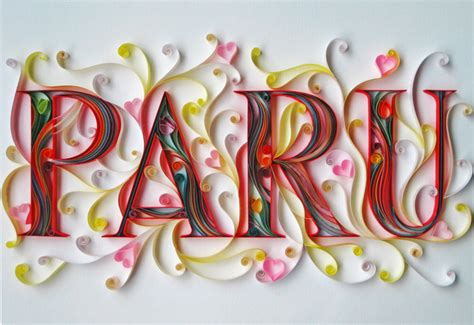 stunning paper typography  sabeena karnik art spire
