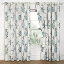 Blue Floral Curtains Hydrangea Floral Print Eyelet Lined Curtains Duck Egg 6 Sizes Available Ebay