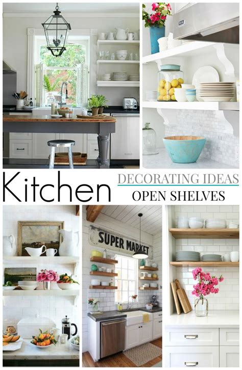 Decorating Ideas For Kitchen Shelves Cottage Farmhouse Kitchens Inspiring In White Fox Hollow Cottage