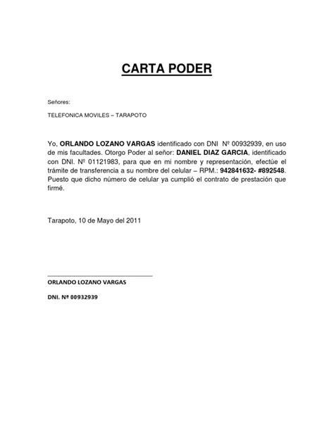 carta poder ejemplo en mexico carta poder