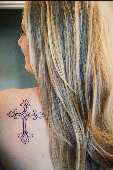 female cross tattoos 55 amazing christian shoulder tattoos