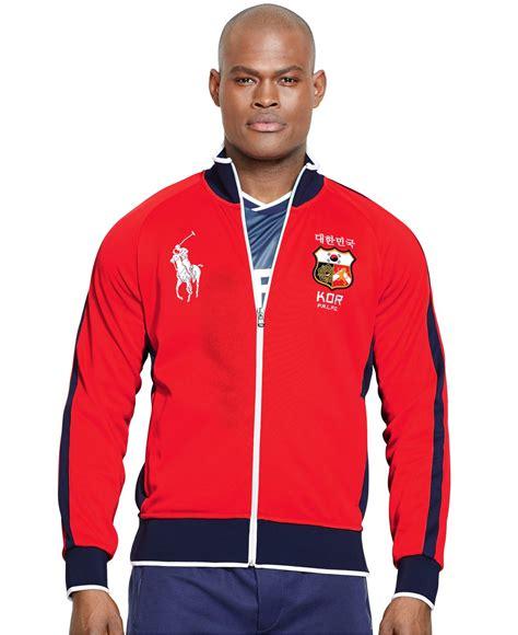 Jaket Fleece Korea Zipper Pria lyst polo ralph polo sport korea tech fleece track jacket in for