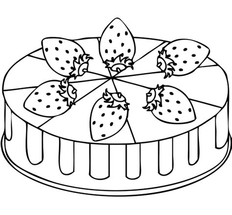 strawberry cake coloring page coloring page pinterest