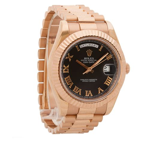 Rolex Ls20 Rosegold rolex day date ii 218235 gold world s best