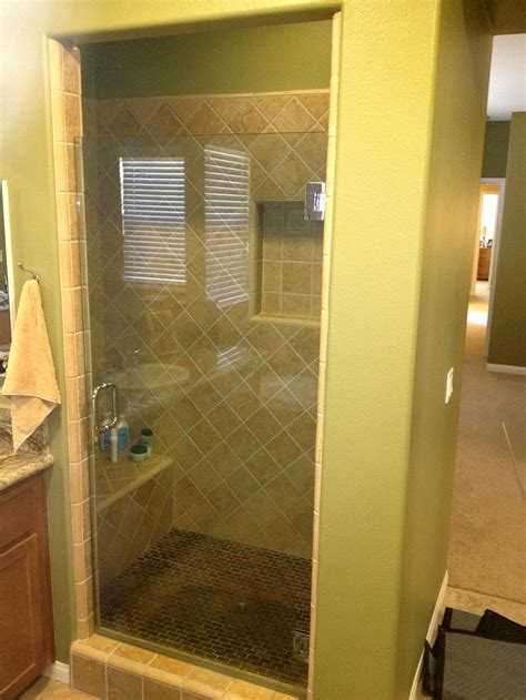 New Shower Doors Shower Door New Install 2 After Sliding Door Repair San Diego Ontrack