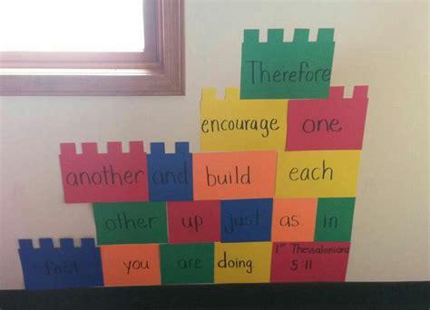 tutorial lego classroom 1 thessalonians 5 11 lego curriculum decorations kids