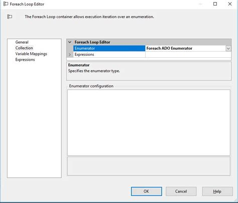sql server foreach ado enumerator doesn t show ado object source variable stack overflow