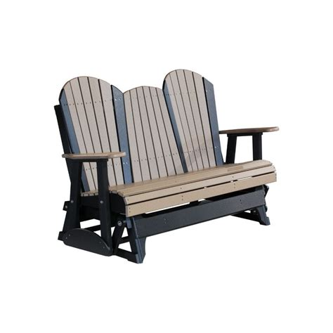 adirondack glider bench poly outdoor 5 foot adirondack porch glider bench