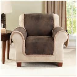 Furniture Chair Covers Sure Fit 174 Stretch Leather Recliner Slipcover 581254
