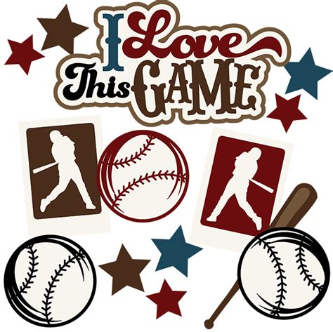 i love this game svg scrapbook collection baseball svg